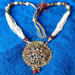 Traditional Royal Beautiful White and Multi Colour Long Necklace Raanihaar for Girls and Women – Multi Colour